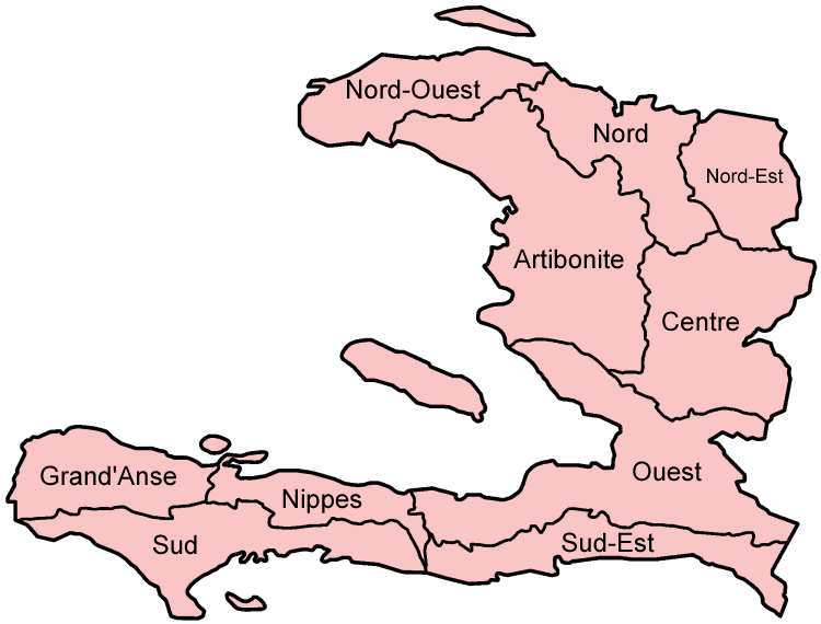 Carte Haiti Departements.Atlas Of Haiti Wikimedia Commons