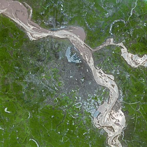 Satellitenbild von Hanoi