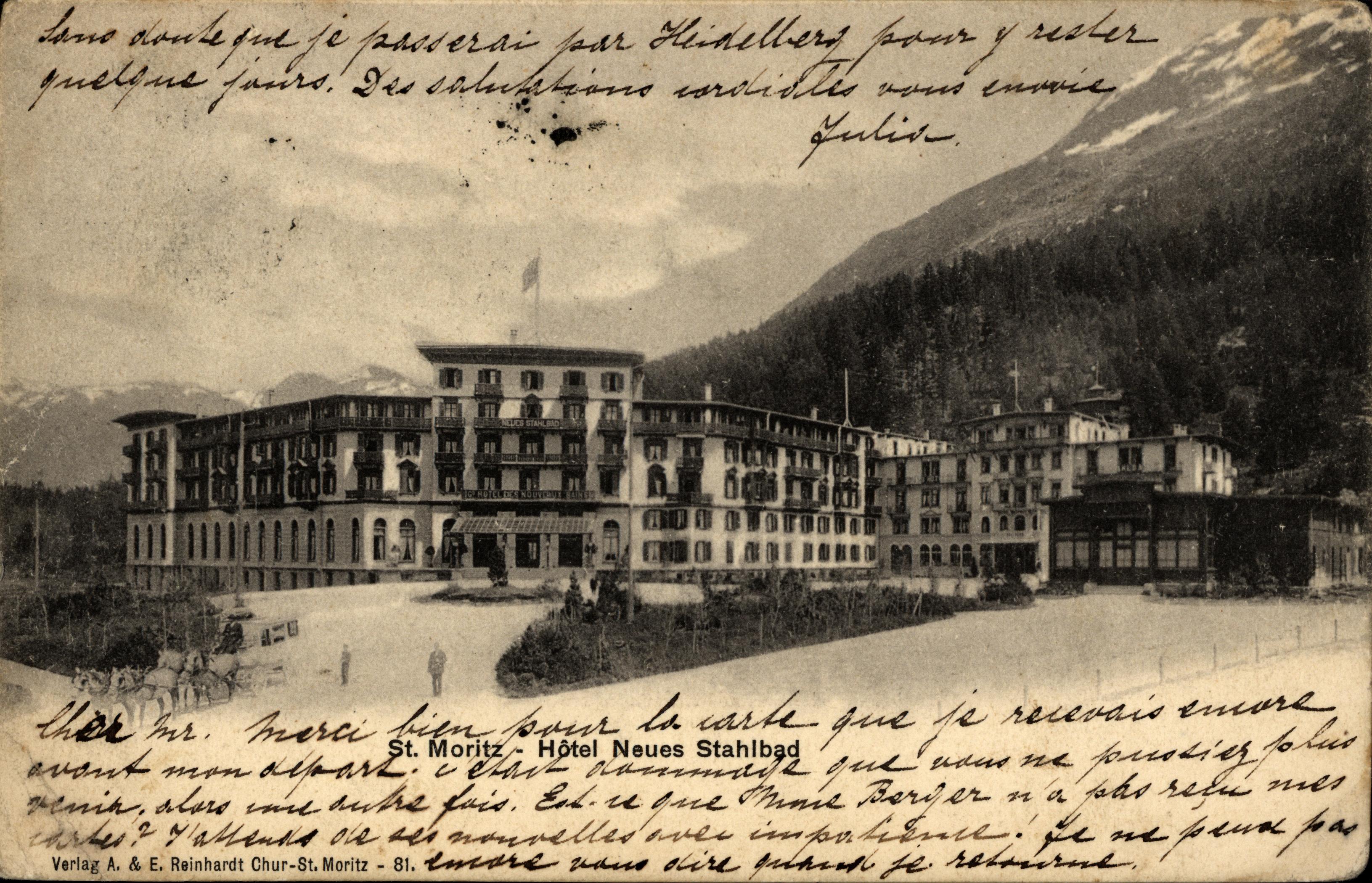 St Moritz Hotel A Vintage Silver Plate Creamer