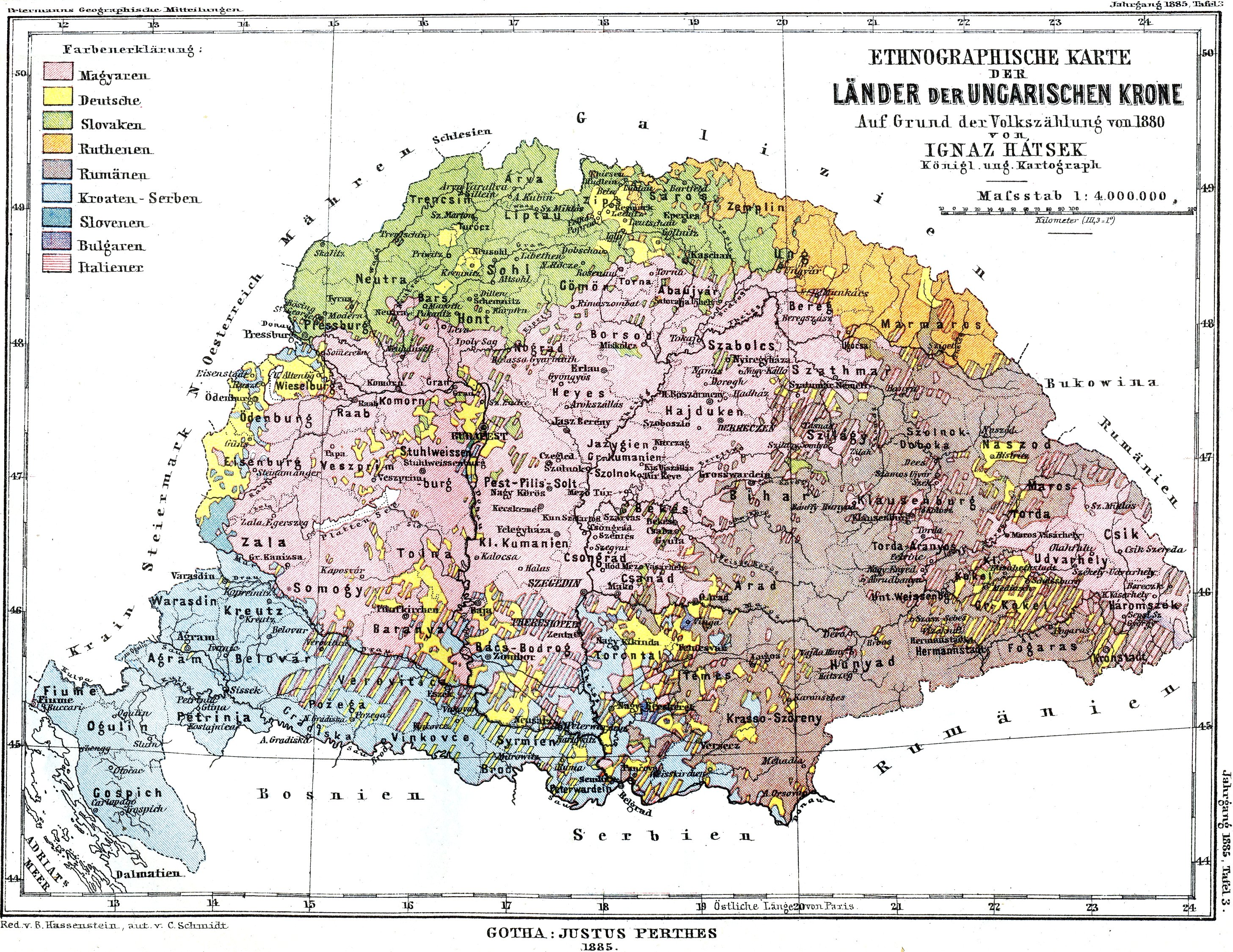 Maps - Croatia Administrative Map Of Treaty Trianon