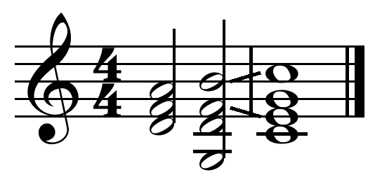Tonic (I) in ii-V-I turnaround on C, found at the end of the circle progression <!-- audio -->