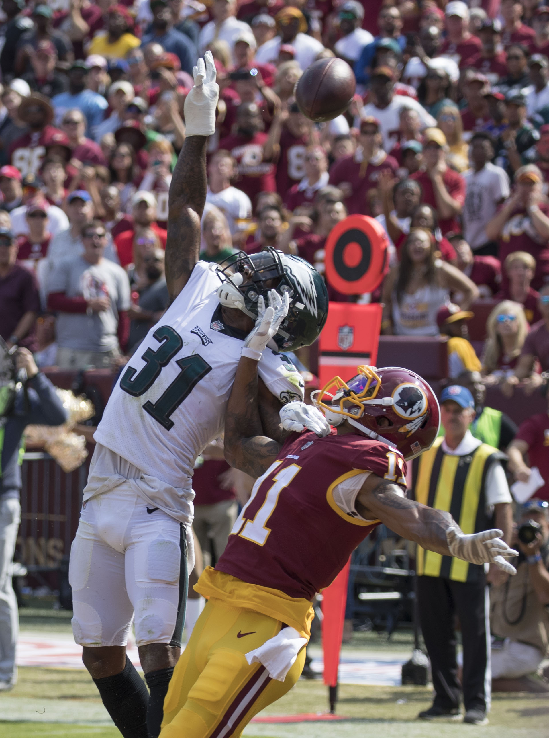 701900e3f46 Mills deflecting pass vs Redskins week 1, 2017