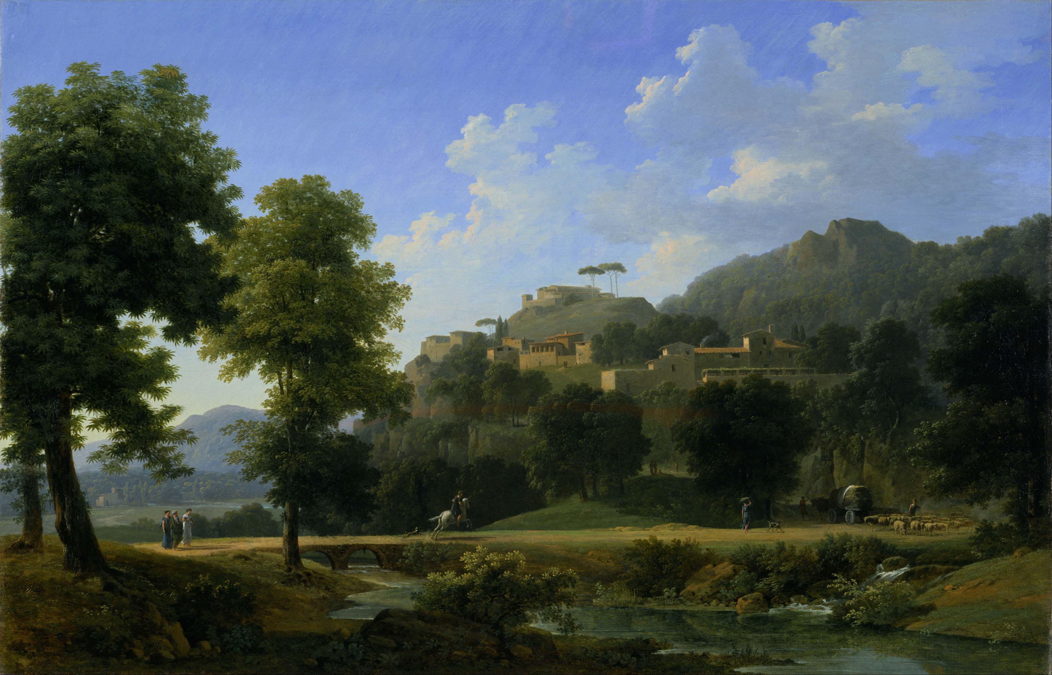 File jean victor bertin italian landscape le paysage d for Les paysages