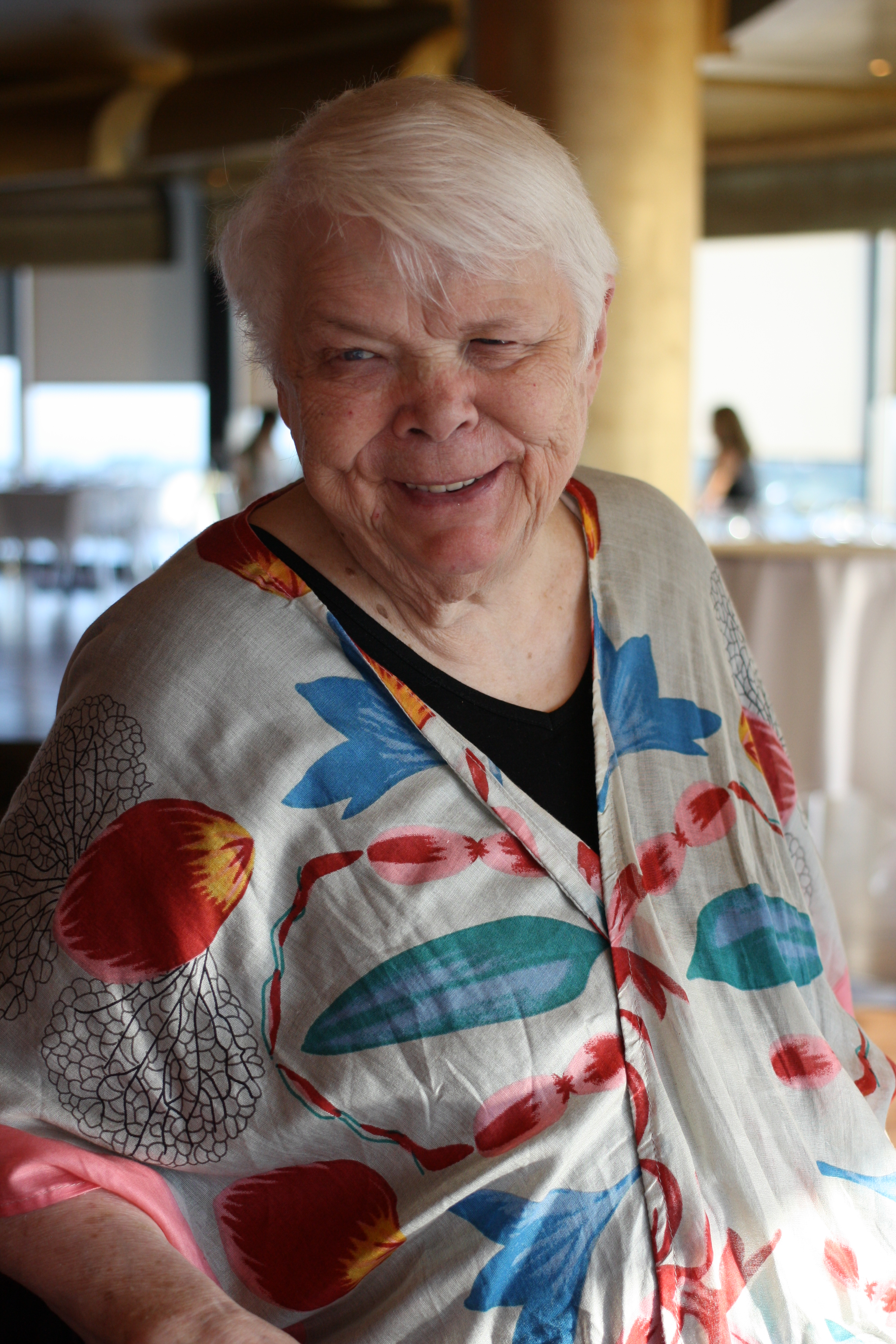 Jean Little before delivering the 2016 Margaret Laurence Lecture in Toronto