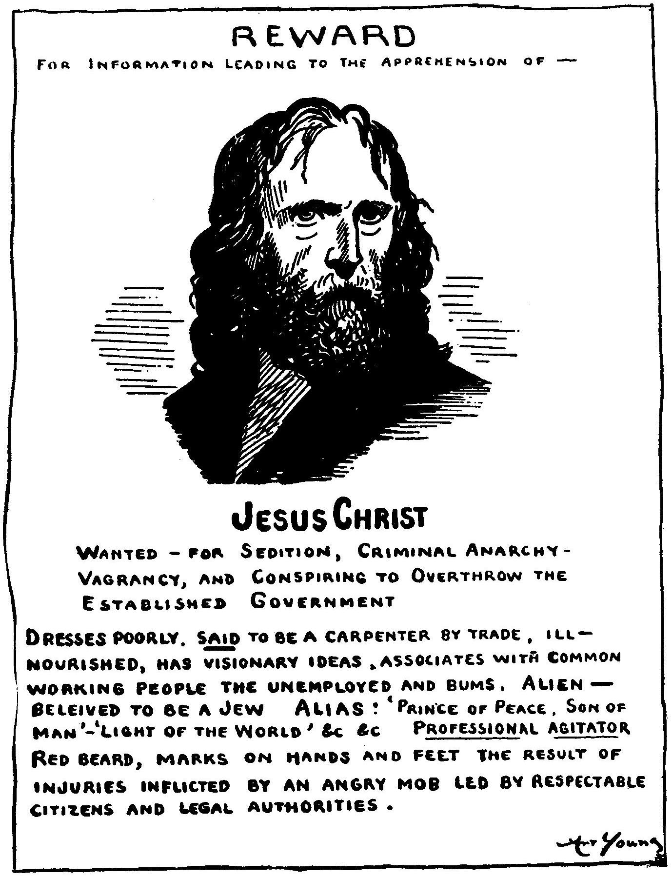 File:Jesus Wanted Poster  Criminal Wanted Poster