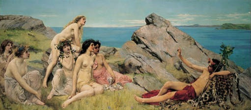Dosya:John Reinhard Weguelin – Bacchus and the Choir of Nymphs (1888).jpg