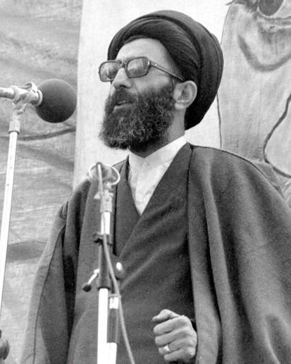 Khamenei as Tehran's Friday Prayer Imam in 1979 Jumu'ah pray Ali Kamenei as Jumu'ah Imam.jpg