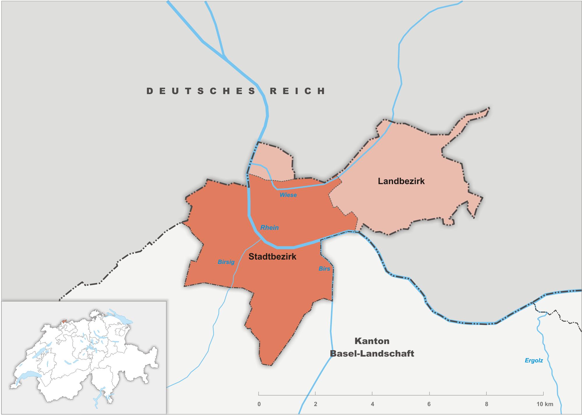 Bezirke des Kantons Basel-Stadt bis 1889