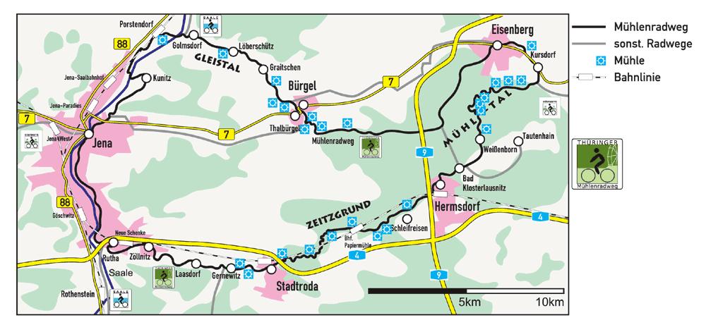 Saale Radweg Karte Pdf.Thuringer Muhlenradweg Wikipedia