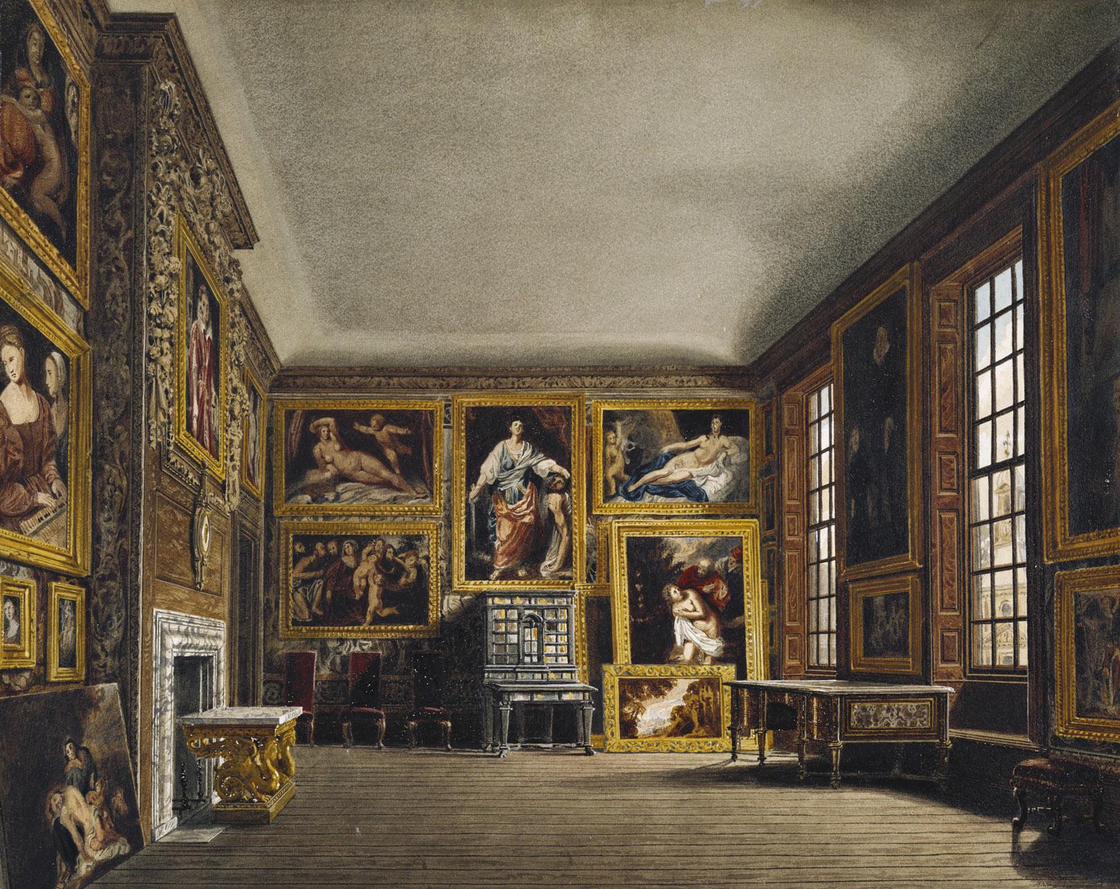 Kensington Palace C Queen S Bedchamber C By Richard Cattermole C Royal Coll Ori on Kensington Palace London