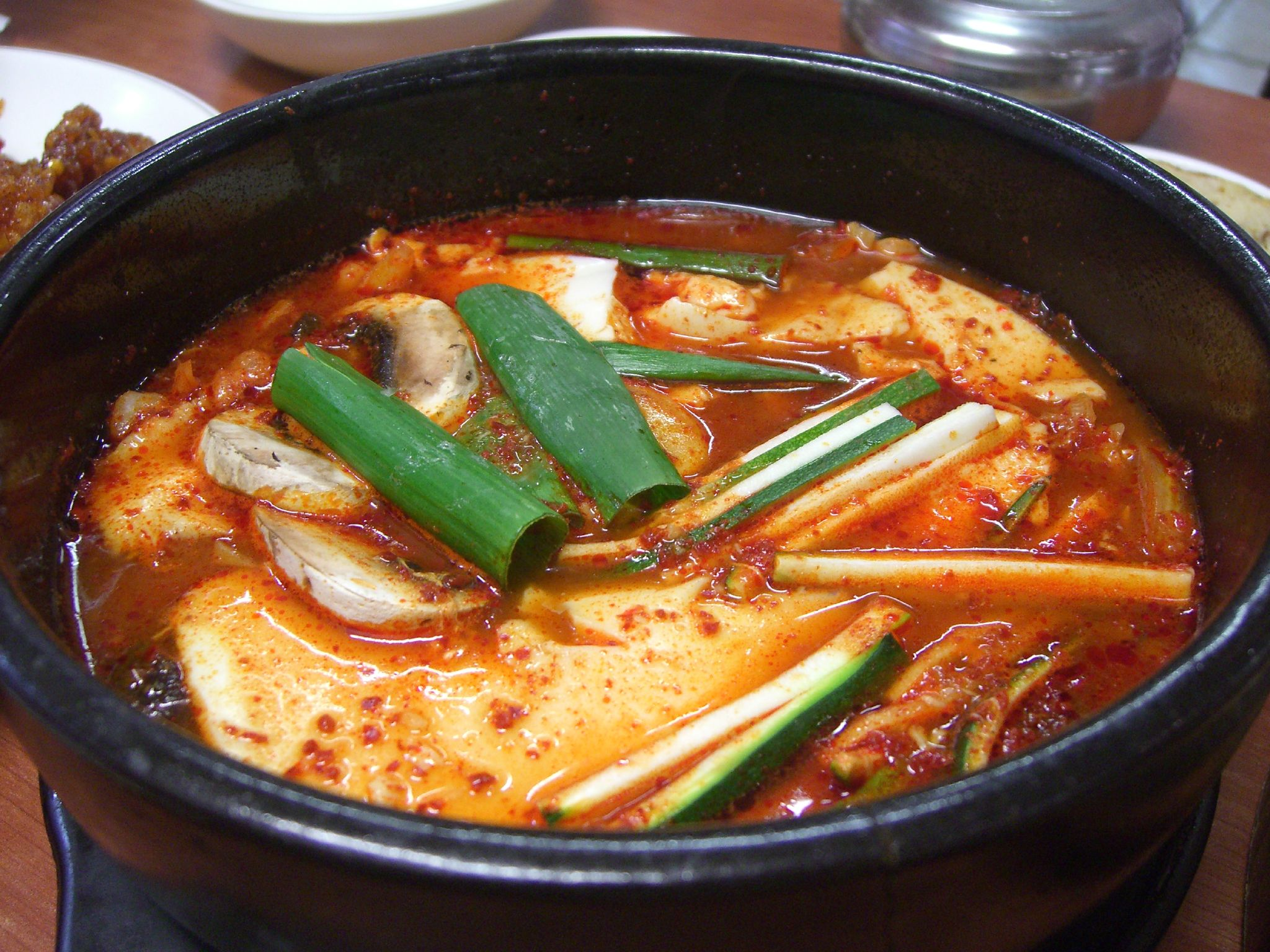 ... korean kalbi korean soft tofu with kimchi stew soondubu jjigae 4