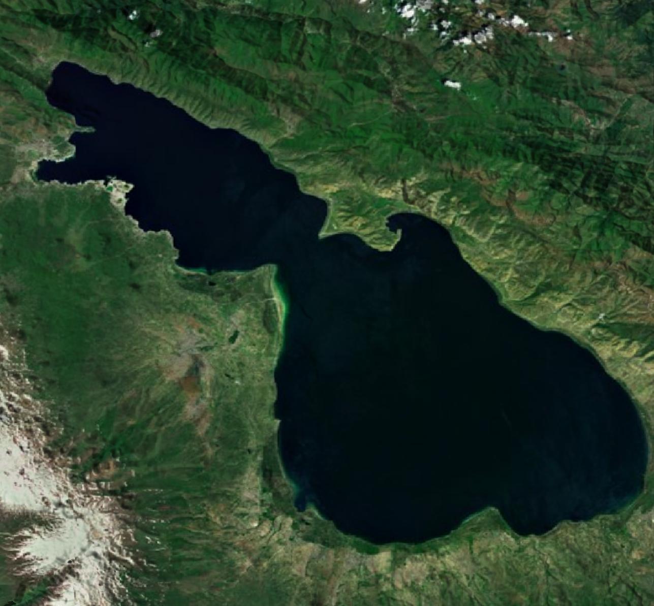 Lake Sevan: File:Lake Sevan From Space.jpg