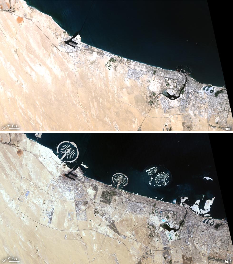 file landsat view  dubai  united arab emirates