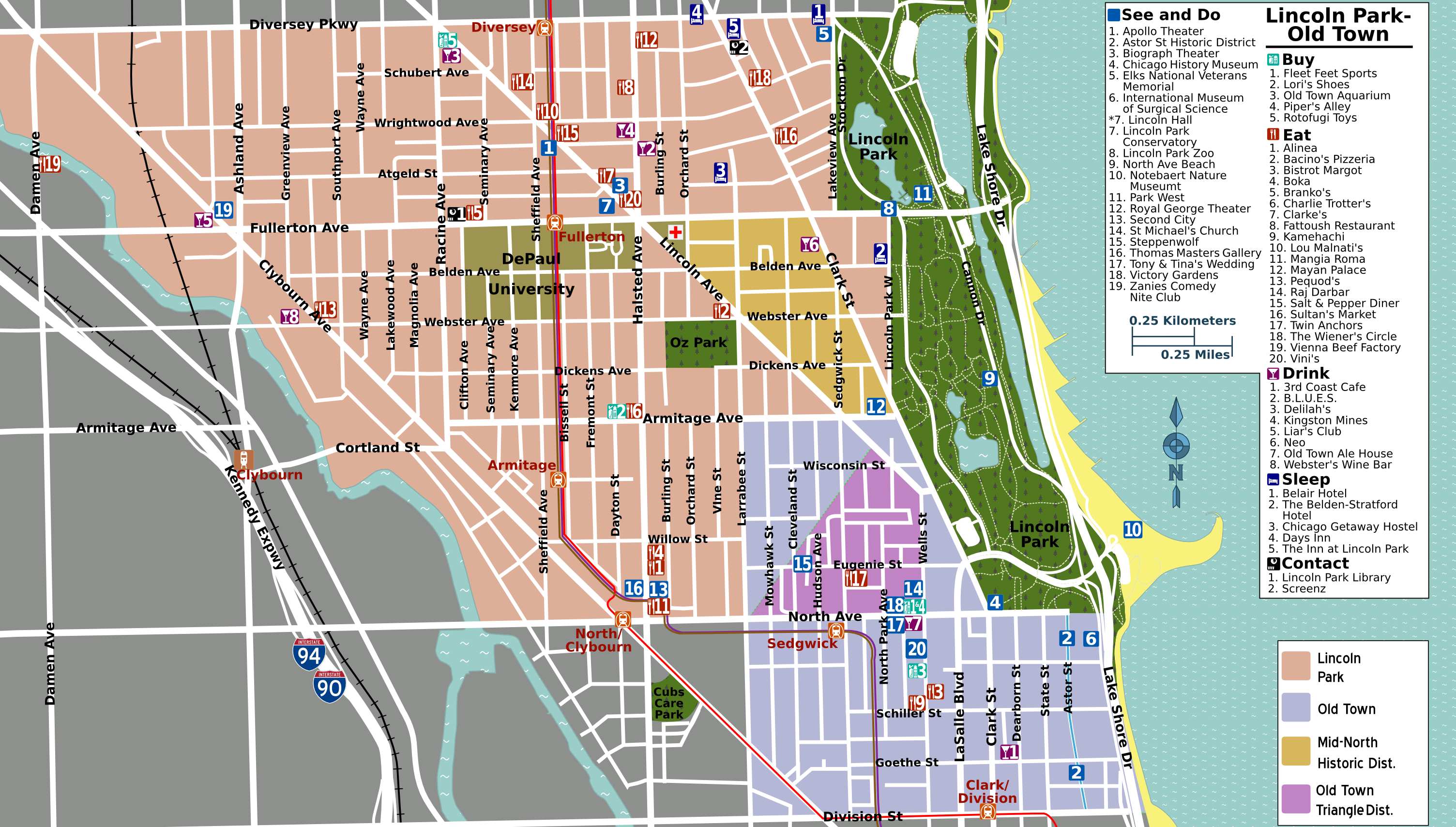 Lincoln Park Map File:Lincoln Park map.png   Wikimedia Commons Lincoln Park Map