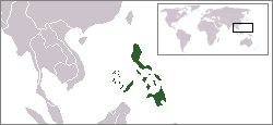 Location of Philippines