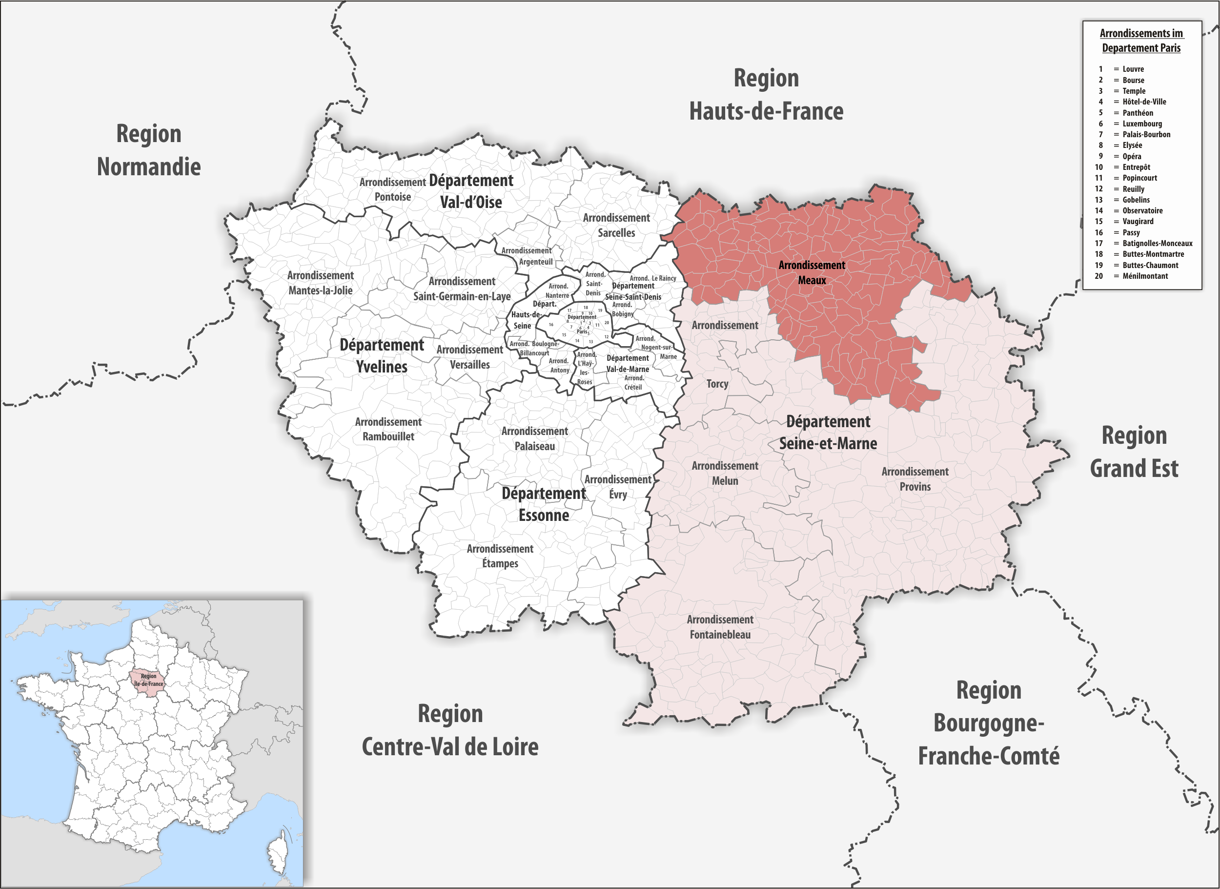 Arrondissement of Meaux - Wikipedia