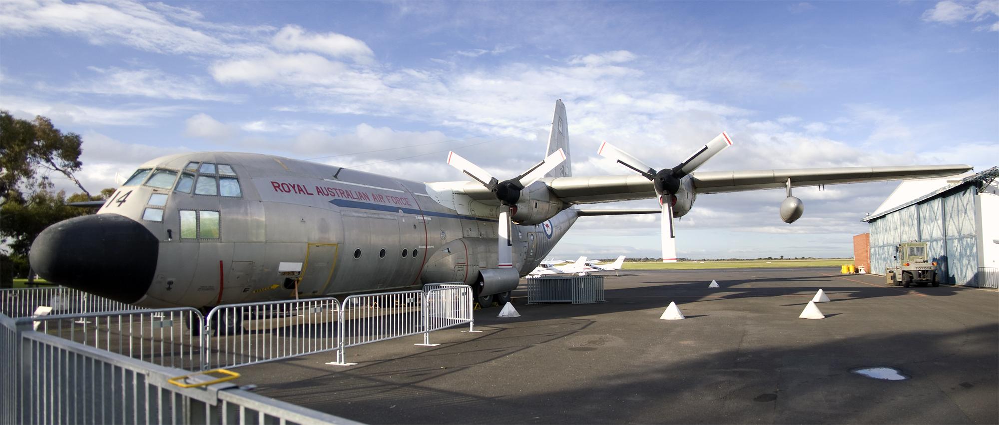 Description Lockheed C-130A Hercules (A97-214) at the RAAF Museum.jpg