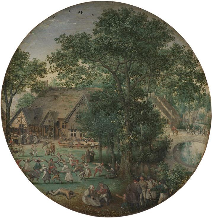 File Lucas Van Valckenborch Peasant Wedding The Dance In Open Air