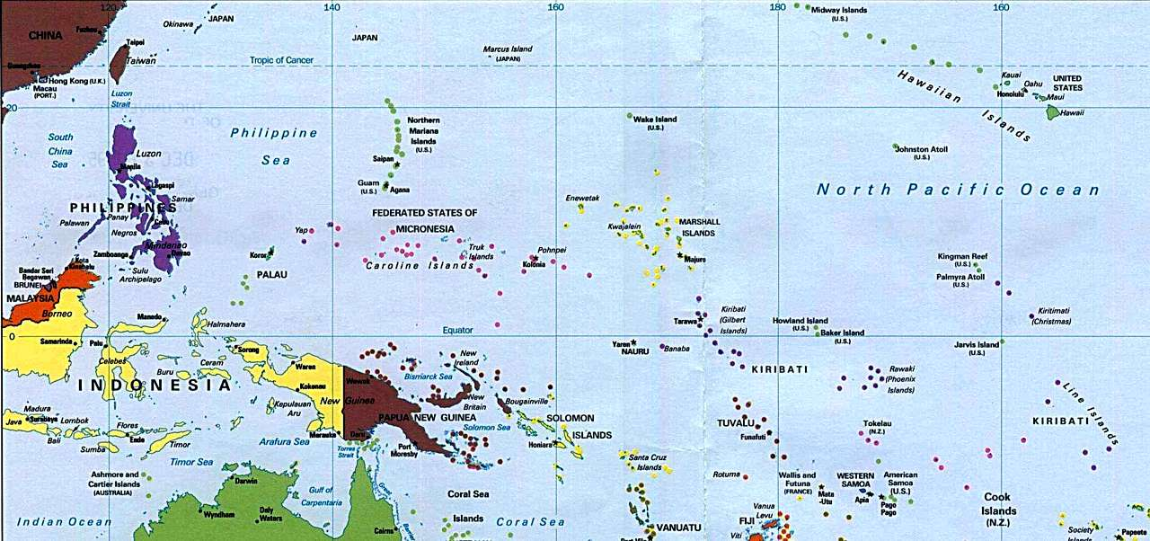 National Geographic Pacific Islands Map