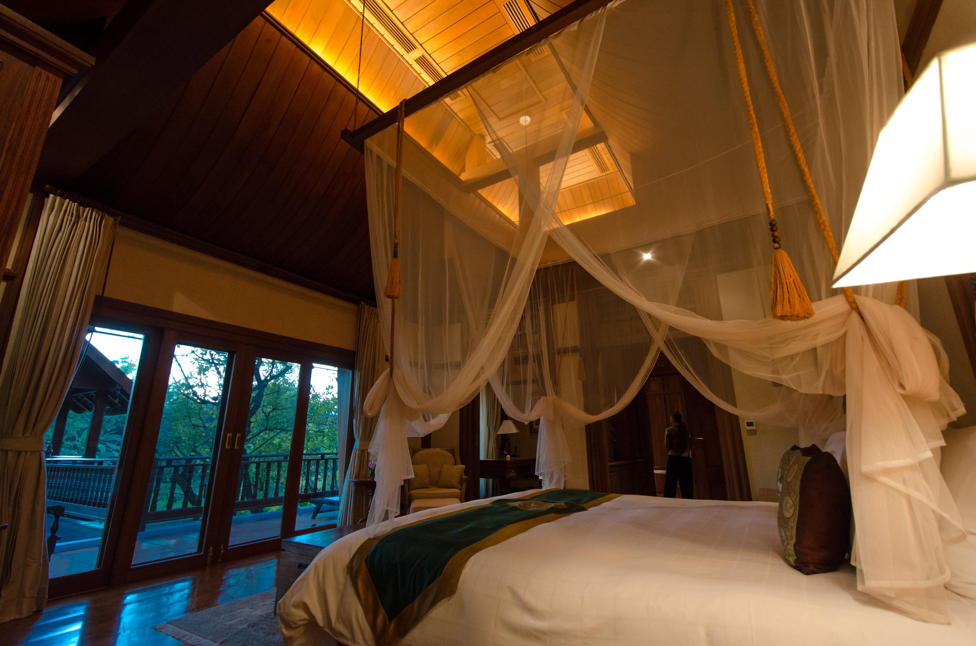Bedroom in Mandarin Oriental Dhara Dhevi villa
