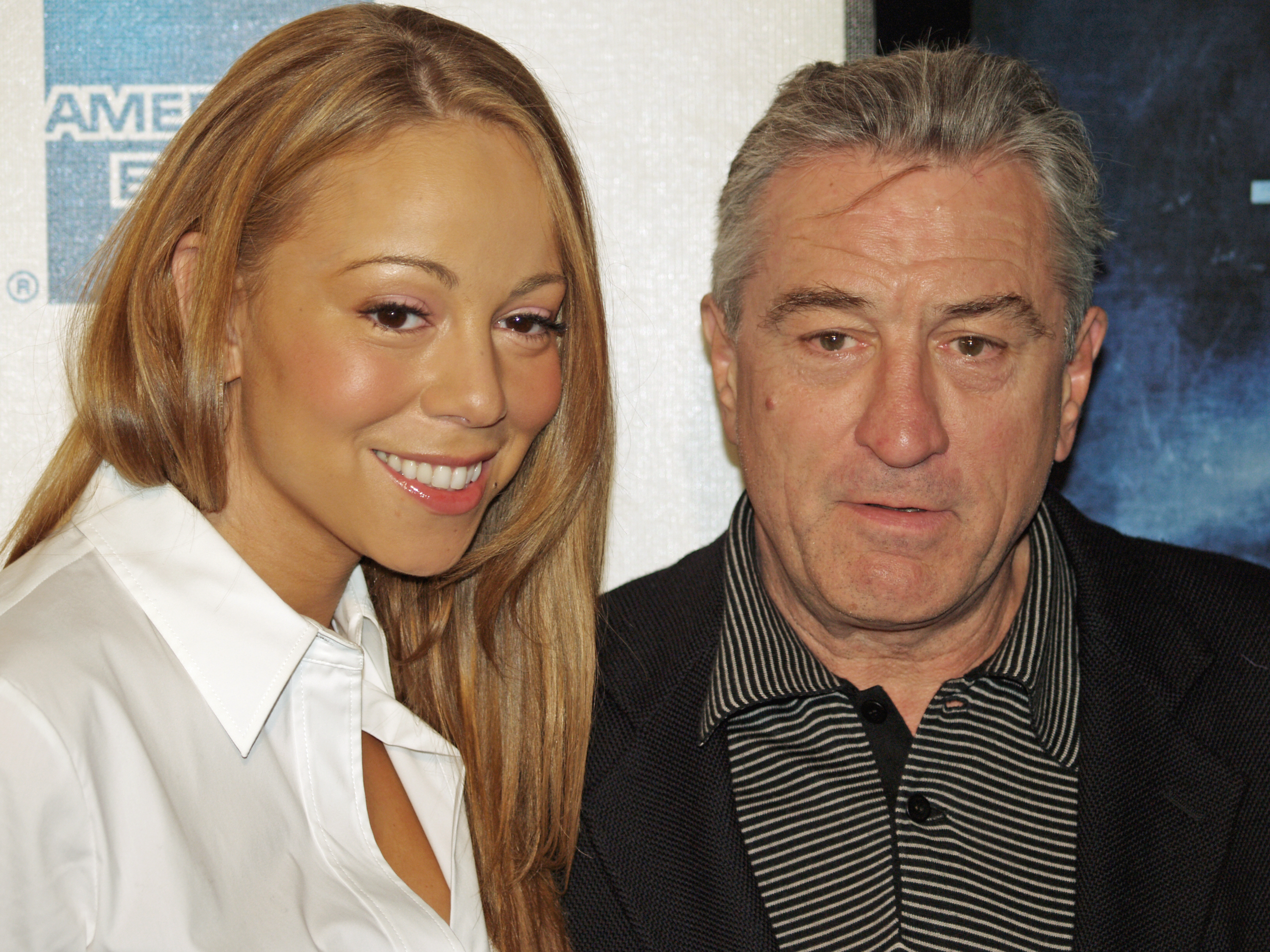 Mariah Carey and Robert De Niro by