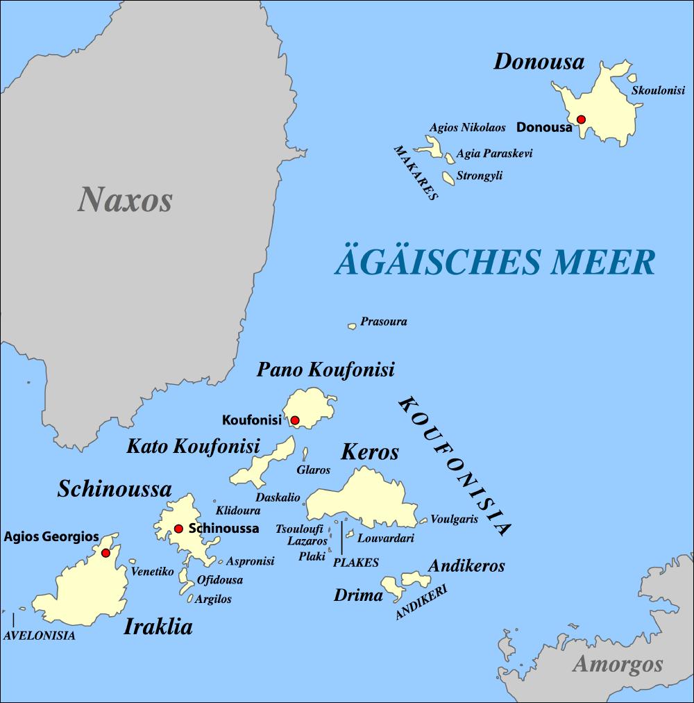 Kykladen Karte.Kleine Kykladen Wikipedia