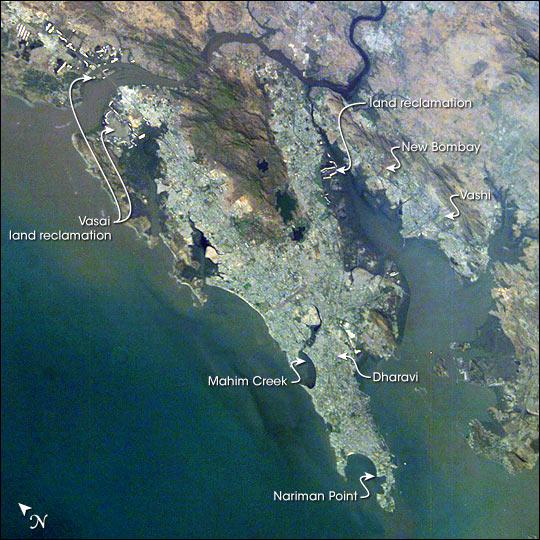 File Mumbai Aerial View Satellite Image India March