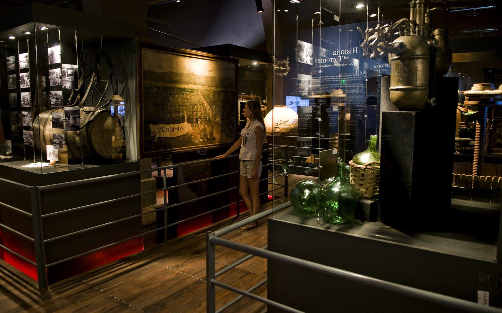 interior del Museo de la Vid y el Vino en Ensenada