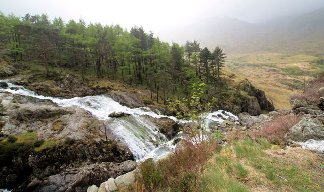Ogwen waterfalls. - geograph.org.uk - 510844