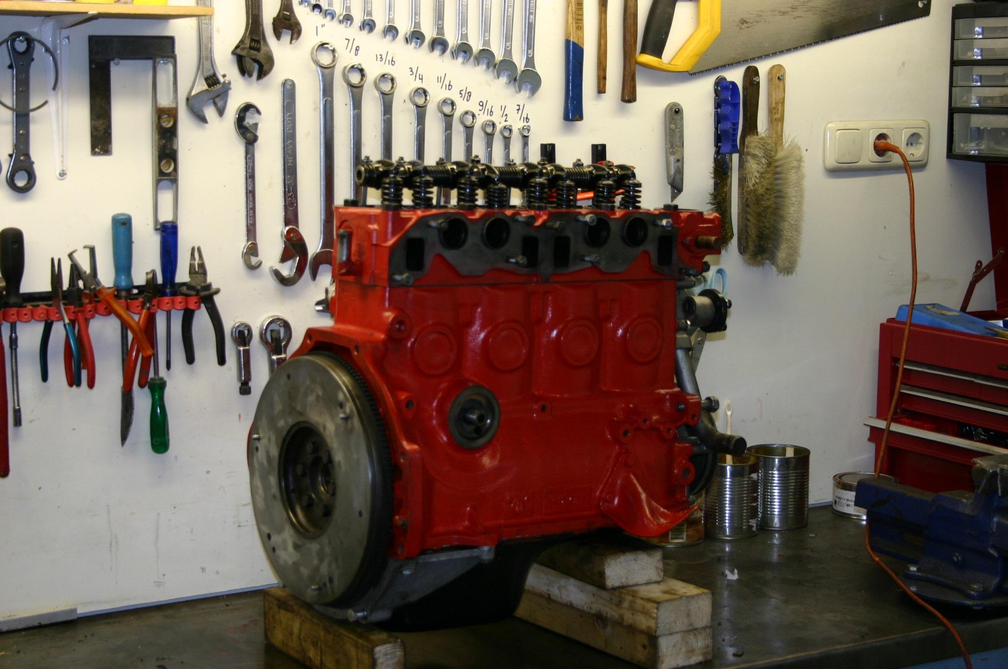 overhauled volvo b20 engine rear.jpg