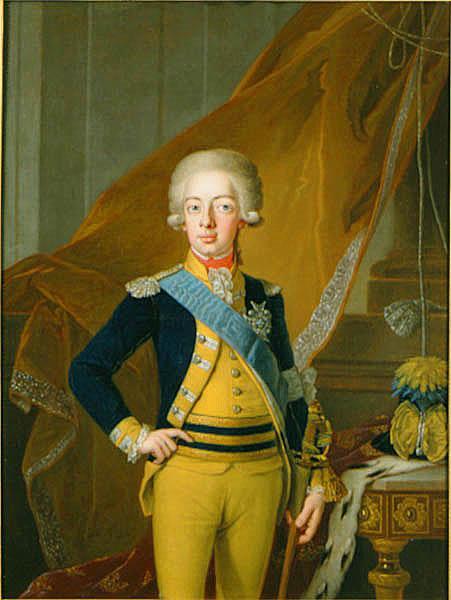 Gustav IV Adolf som fjortonåring