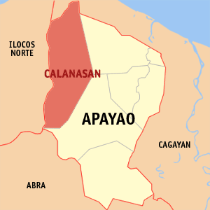 Map of Apayao showing the location of Calanasan