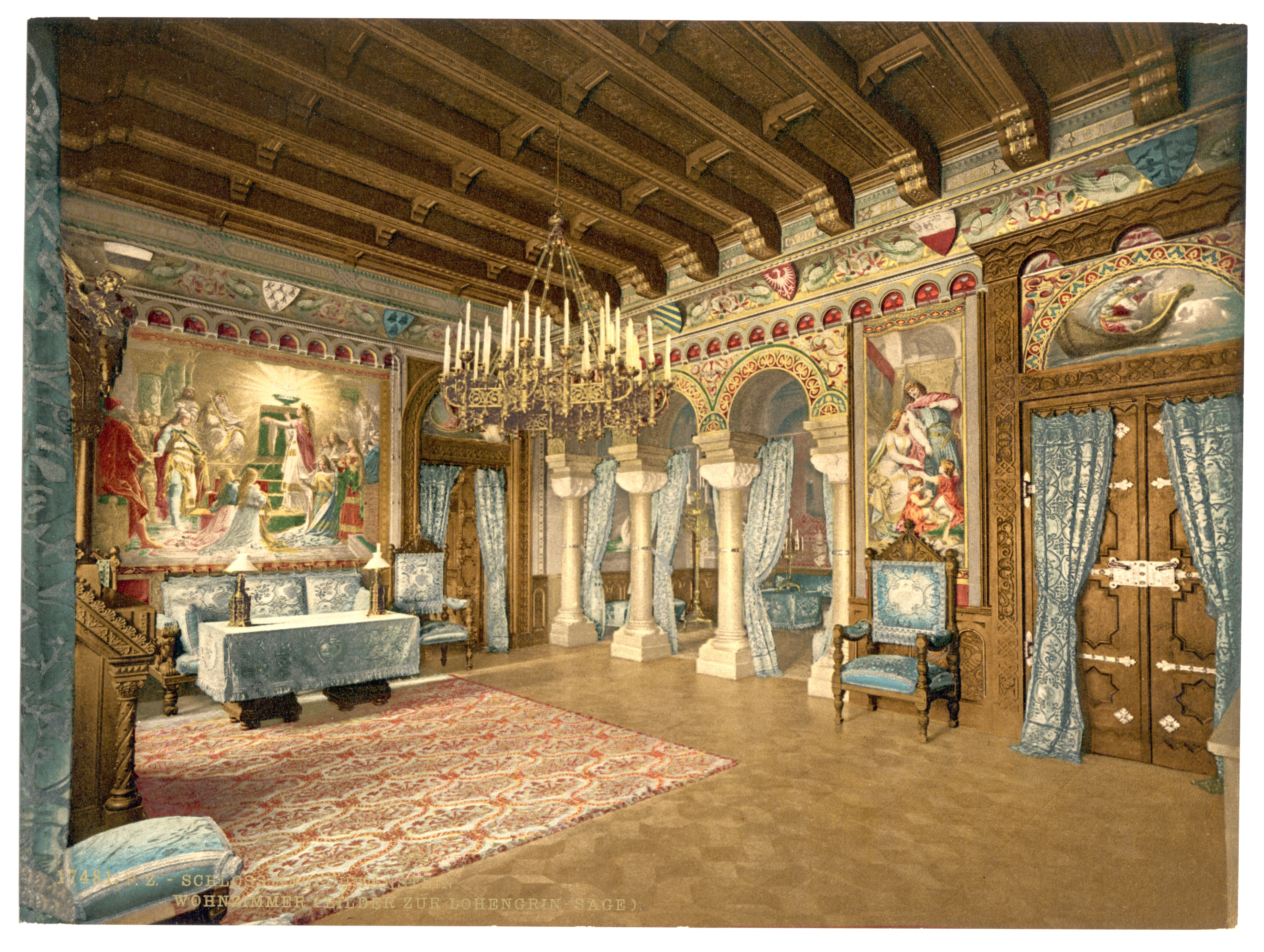File:Pictures of the Lohengrin story, drawing room ...