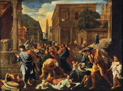 Nicolas Poussin, The Plague of Ashdod, 1630. Oil on canvas, 148 x 198 cm. Musee du Louvre, Paris, France, Giraudon/Bridgeman Art Library. Plague in Ashod.jpg