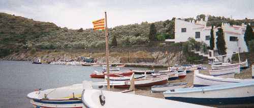 The adjacent village of Port Lligat, with Dalí's home at right