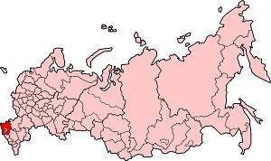 Краснодарский край на карте России