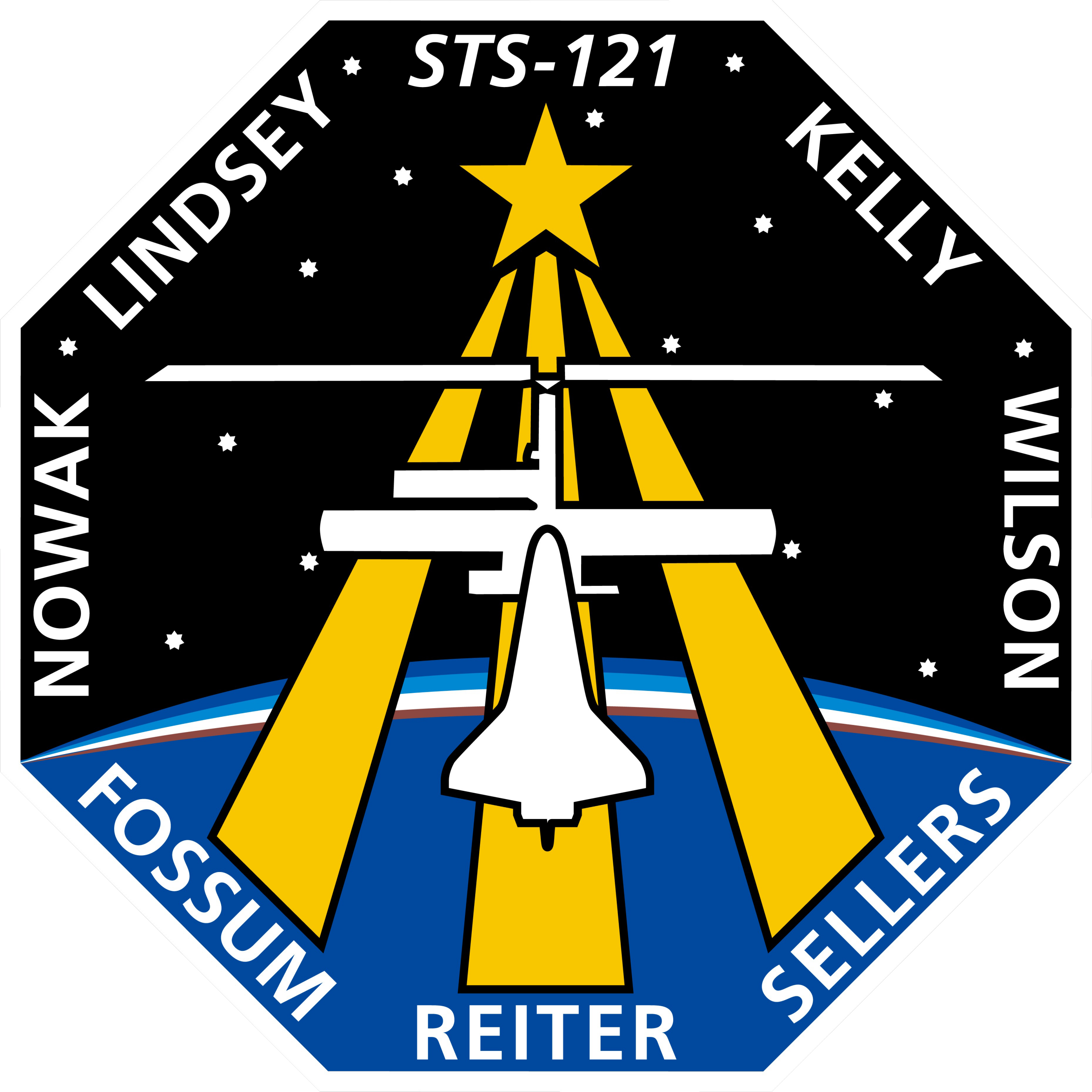 Animation assemblage ISS STS-121_patch