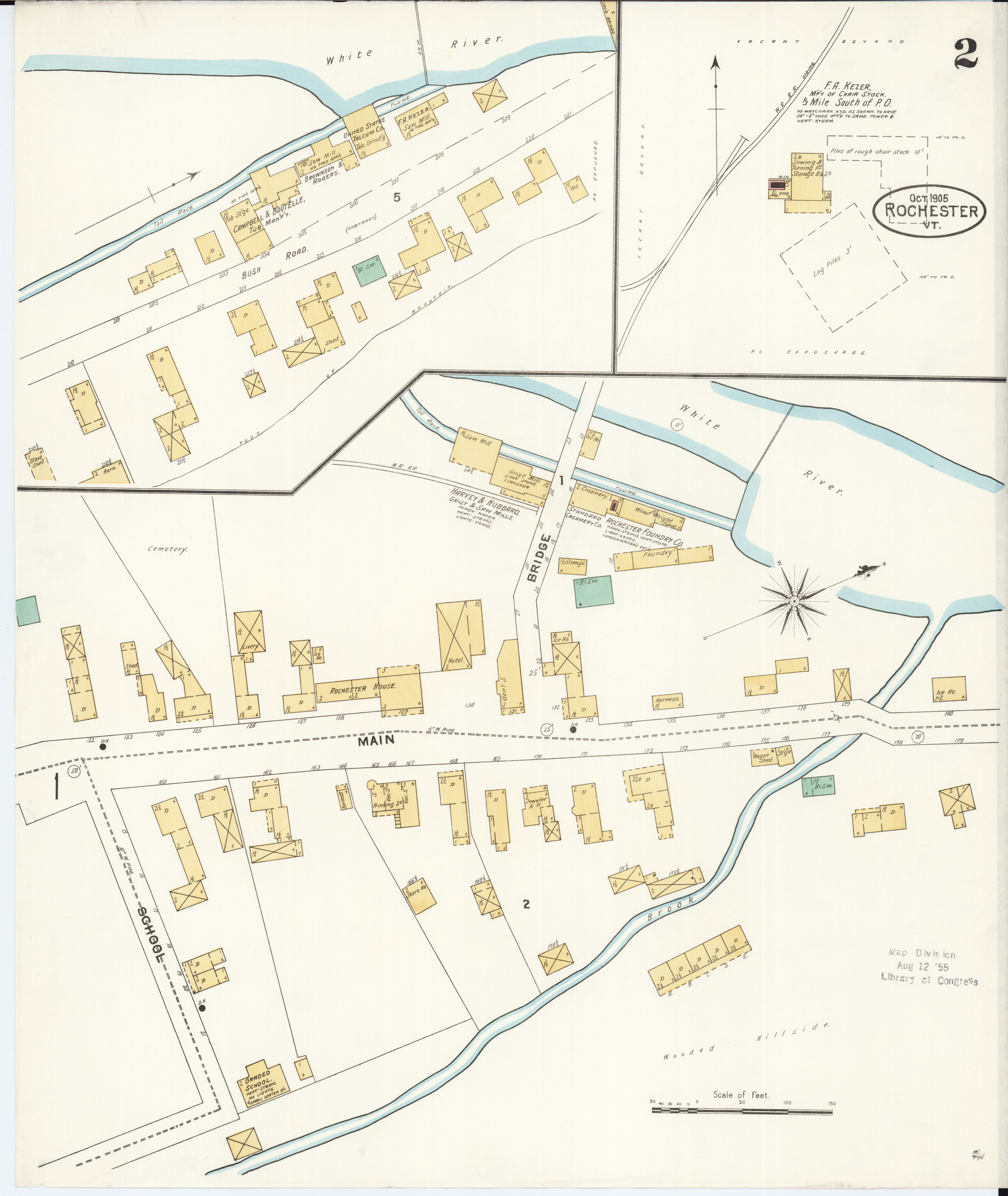 County Line 2 Fire Map.File Sanborn Fire Insurance Map From Rochester Windsor County