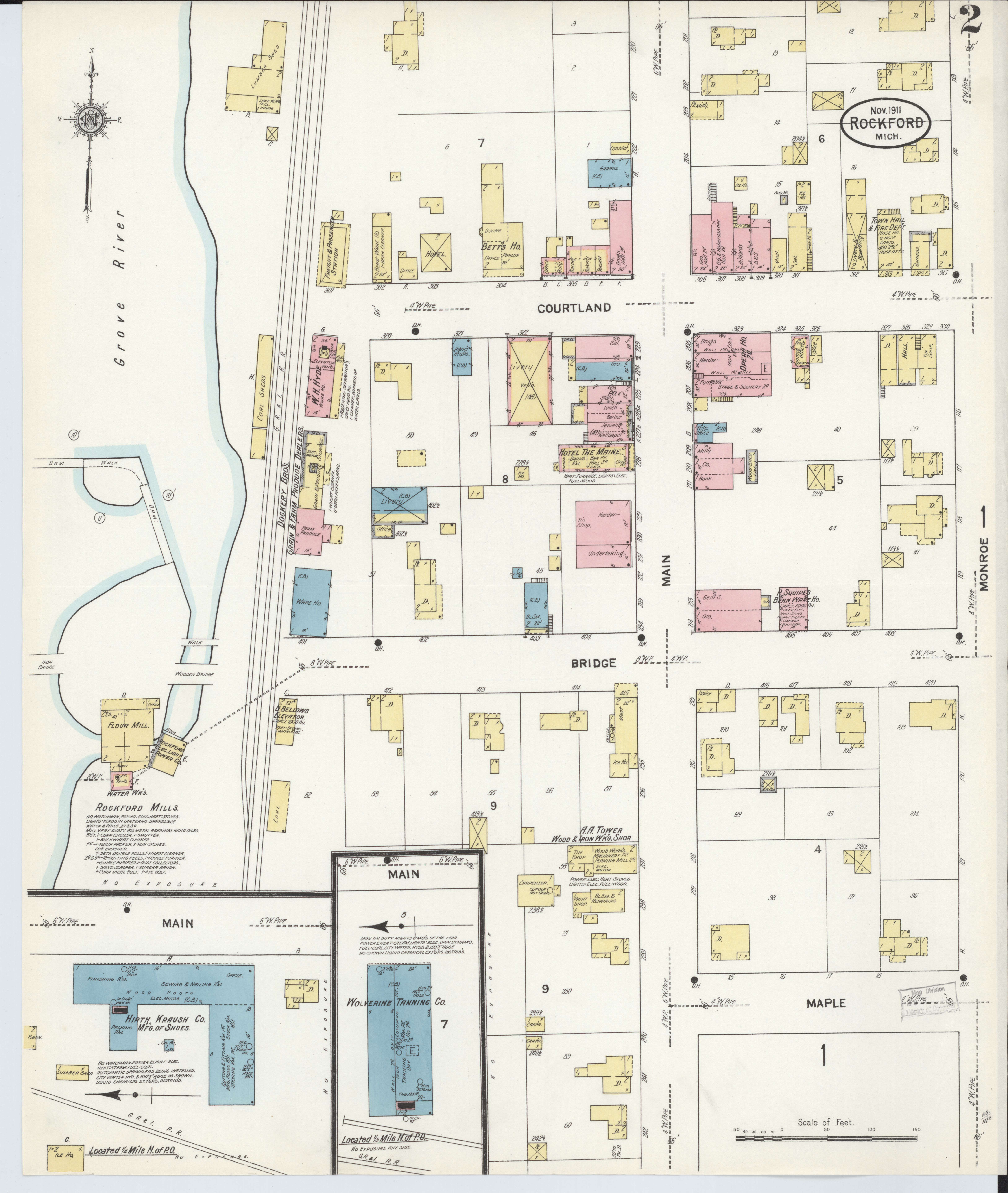 File Sanborn Fire Insurance Map From Rockford Kent County Michigan