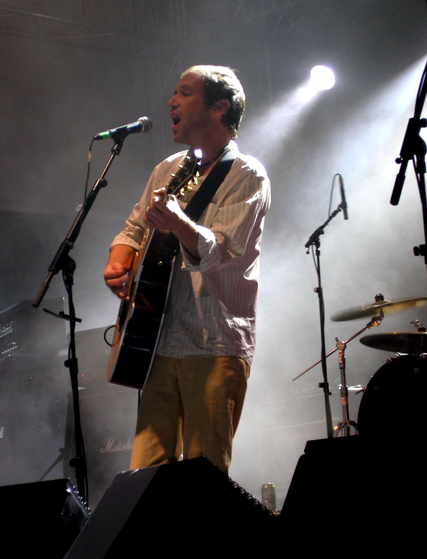 Fowler in concert with [[Ocean Colour Scene]]