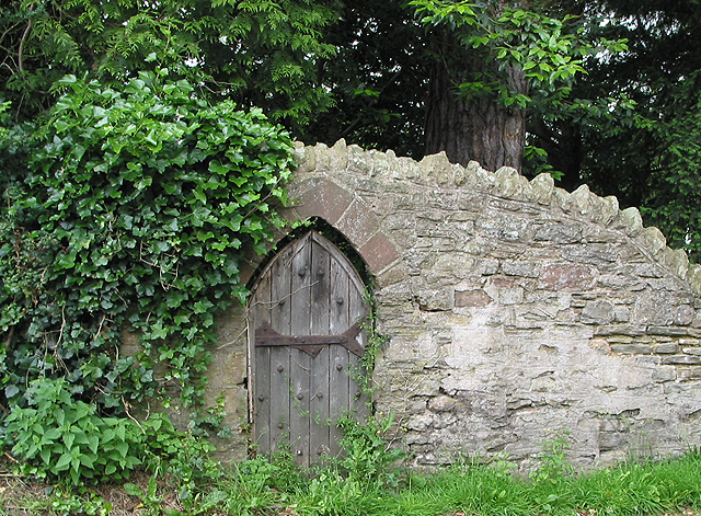 File:Small door in old stone wall - geograph.org.uk - 486910.jpg