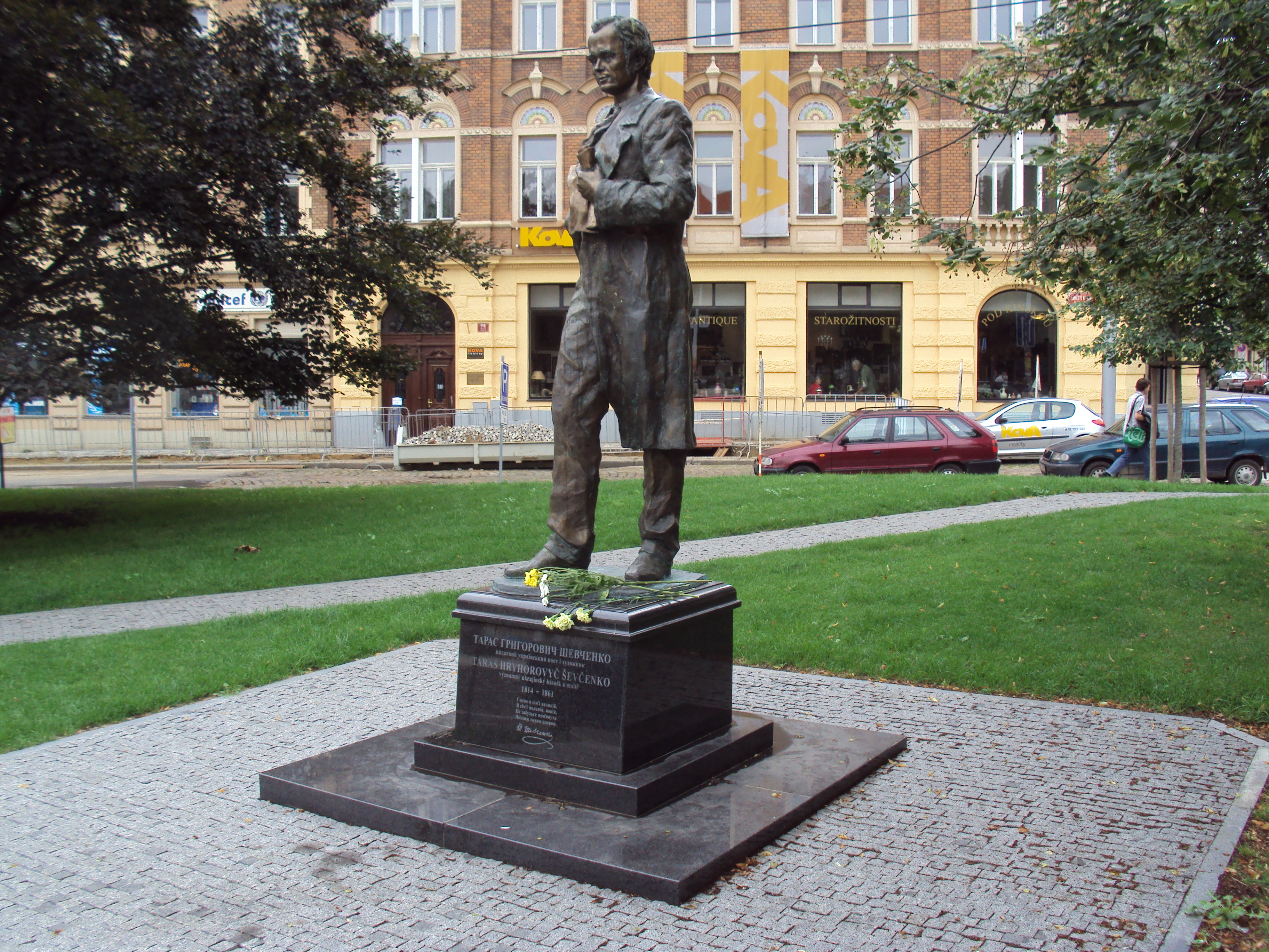 Statue Of Taras Shevchenko Smichov Wikipedia