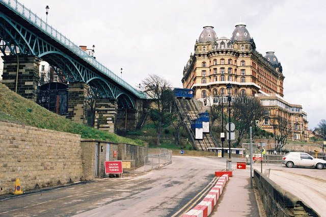St. Nicholas Cliff Lift and the Grand Hotel, Scarborough - geograph.org.uk - 844268