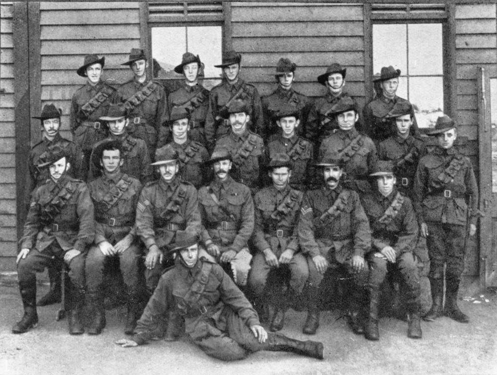 Group portrait of unidentified members of A Squadron, 9th