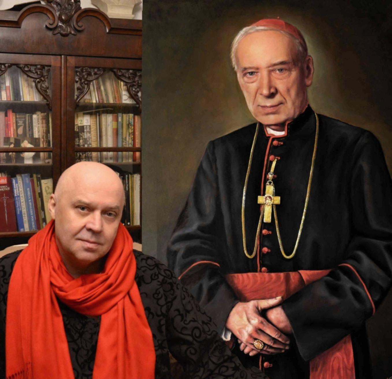 File:Stefan Kardynał Wyszyński i autor portretu Zbigniew Kotyłło, Aula KUL.jpg - Wikimedia Commons