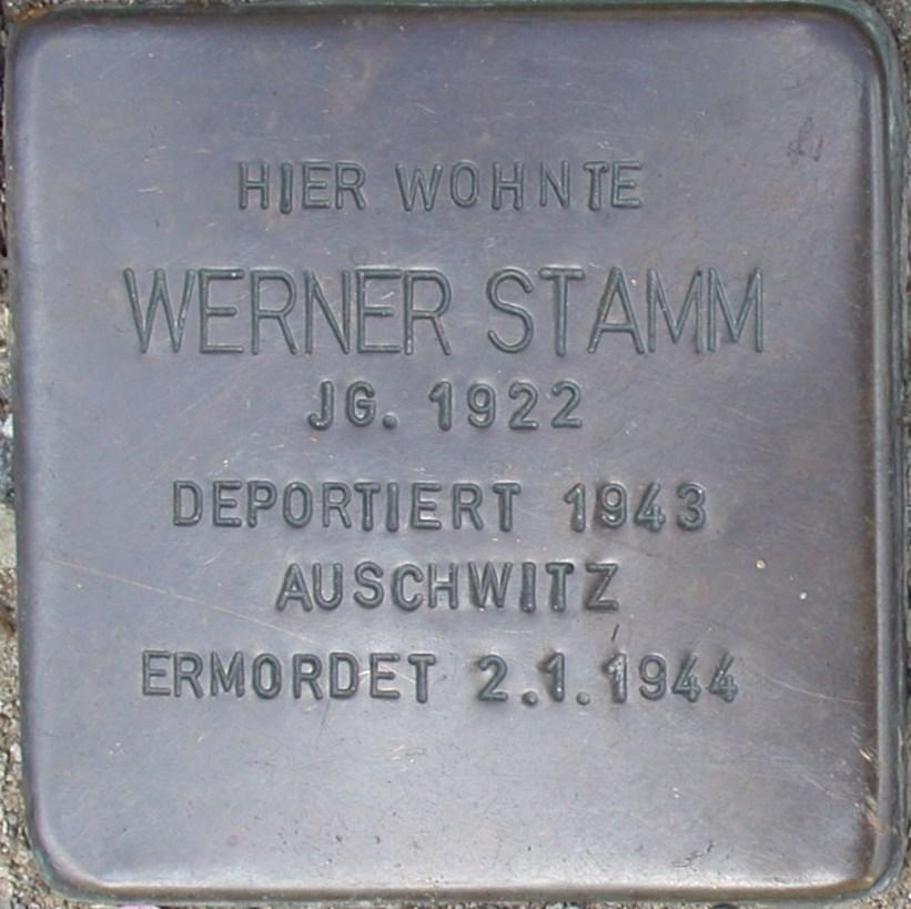 Stolperstein Stamm, Werner.JPG