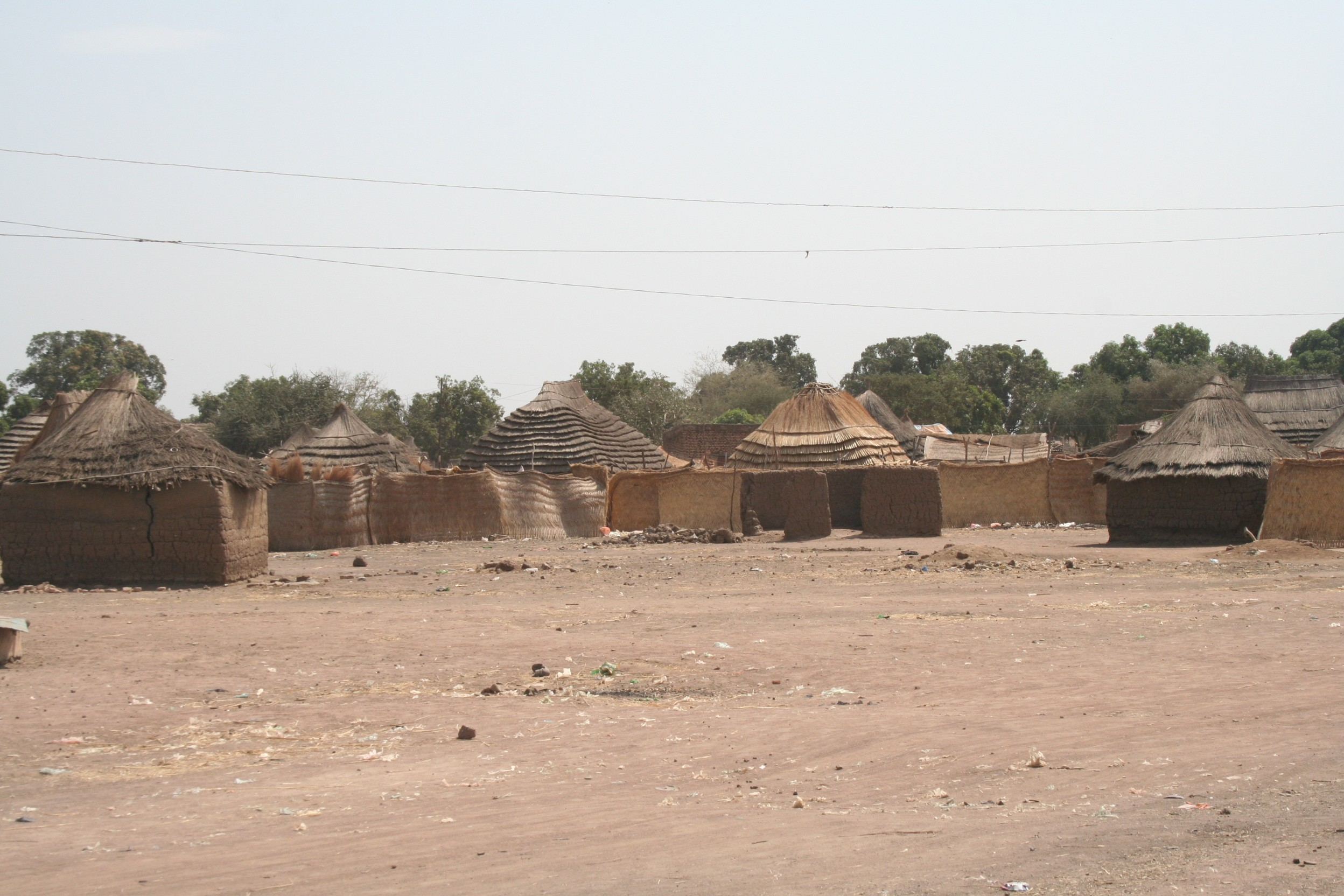 Aweil huts -areial image