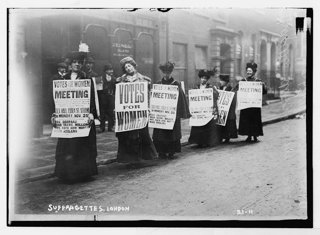 Suffragettes. London. Bain News Service. history of the suffragette penny