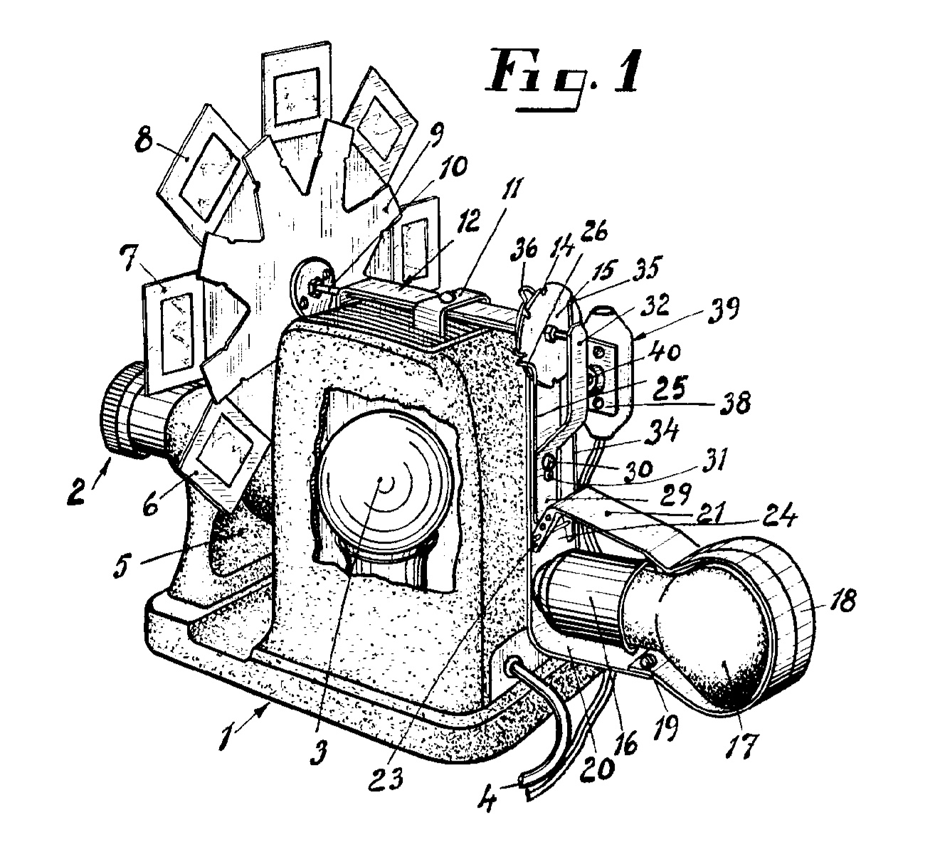 Figure 1 from Swedish patent 188863, Anordning för åstadkommande av stegvis matningsrörelse. Device to accomplish a stepwise feeding movement., G. E. W. Svensson, Halmstad [Public domain], via Wikimedia Commons