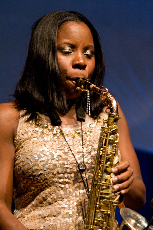 Can Sexy girl saxophone player black aand white share